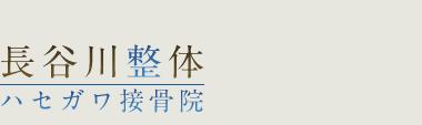 各務原市の整体は「長谷川整体/ハセガワ接骨院(ハセガワセイタイ/セッコツイン)」 ロゴ